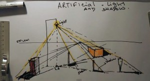 Fast Sketch Artificial light & shadow study in One point perspective | Architecture Drawing  ...
