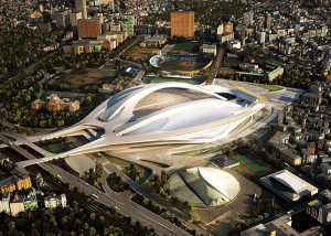 Zaha Hadid, the winner of Japan National Stadium Competition