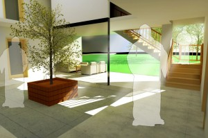 Socializing place, Interior rendering
