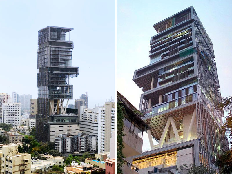 The Antilia house, World's Largest and Most Expensive Family Home