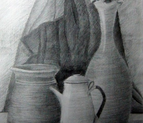 Still Life pencils Drawing