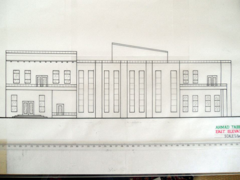Community Center Architecture Project concept design East Elevation