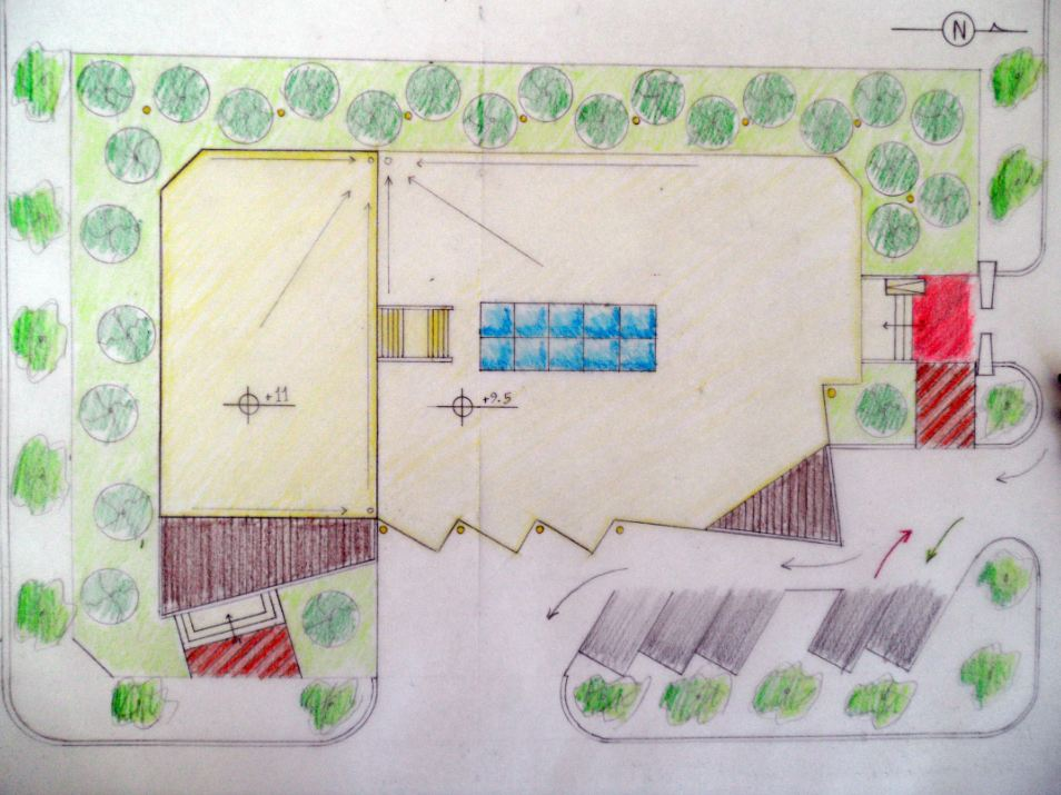 Community Center Architecture Project concept design site plan