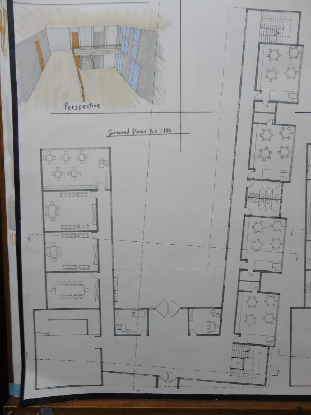 Elementary School for fresh children ground floor plan