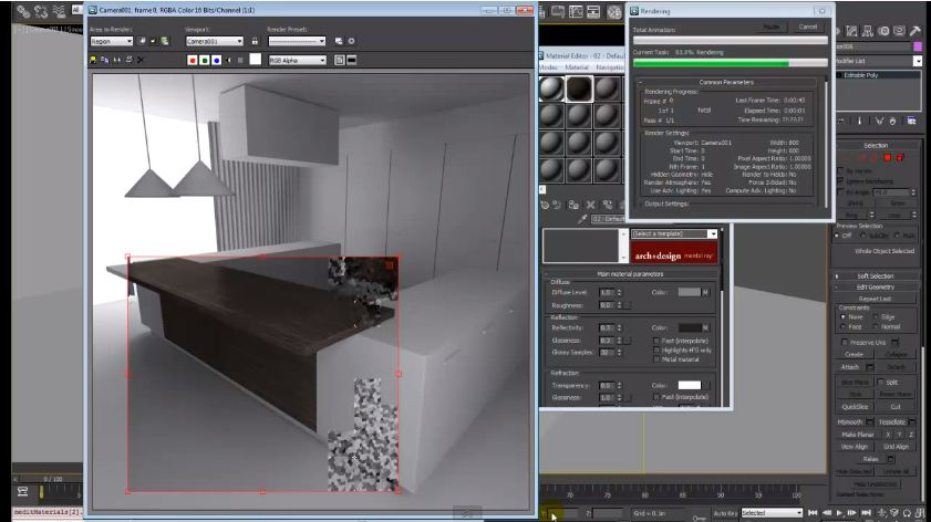 Making of Kitchen: Modelling, Rendering, Postediting | 3ds max Tutorials