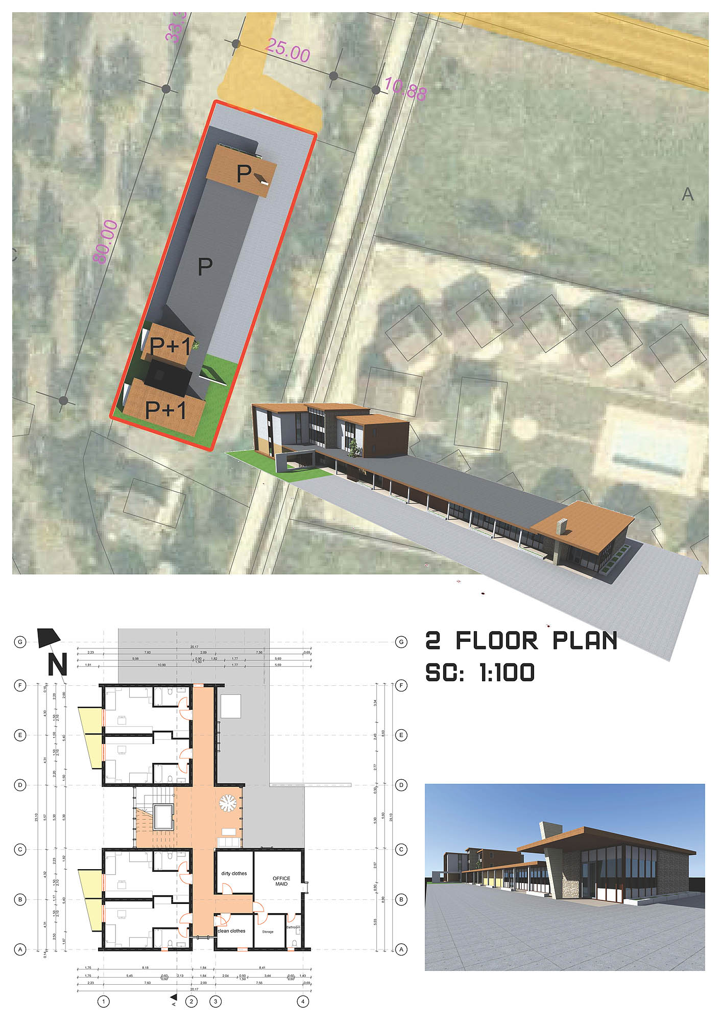 Pension Project Concept Architecture Design sit plan floor