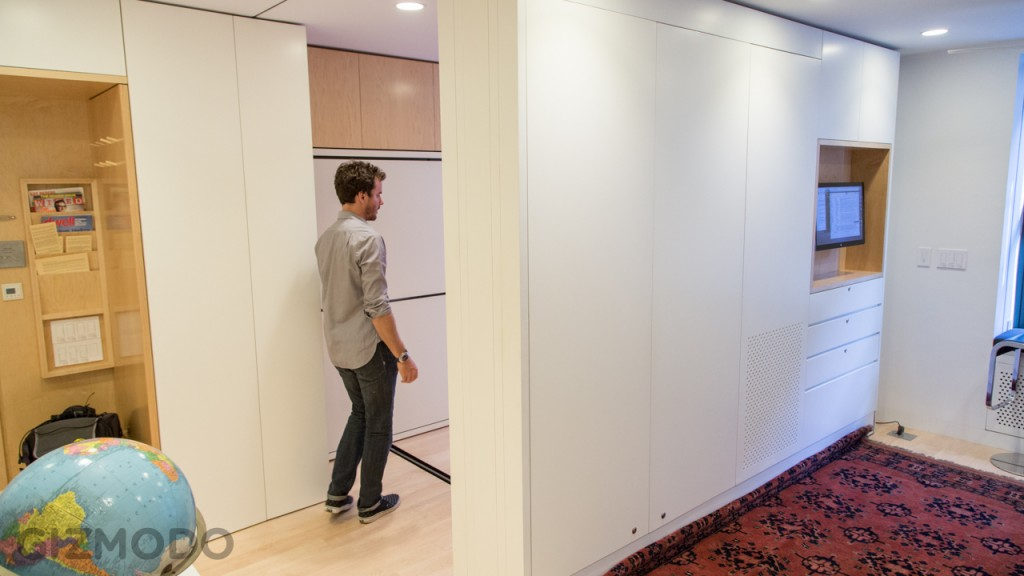The Tiny Transforming Apartment That Packs Eight Rooms, made by two architecture students