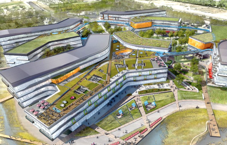 Googleplex Internet giant to build $120m futuristic HQ with a garden on the roof