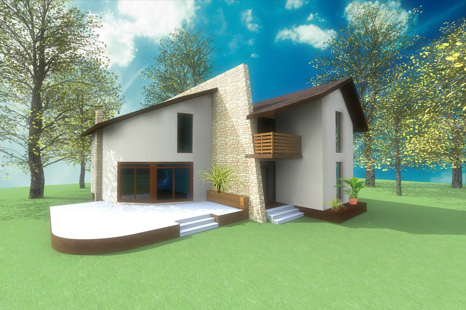 Holiday home house design concept architecture Artlantis rendering