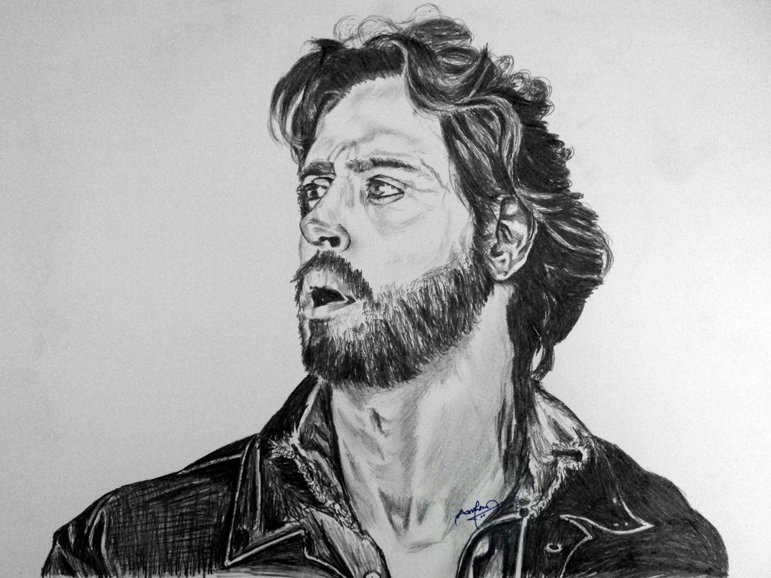 Hrithik Roshan pencil drawing sketch