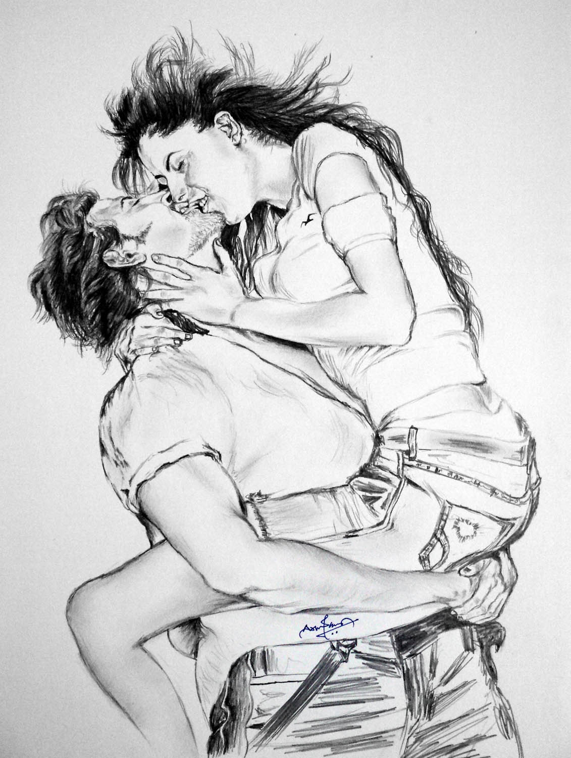 Kites pencil drawing sketch