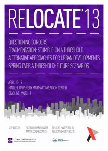 "The International Congress of Architecture Students, RELOCATE'13: ""Urban Transformat ..."