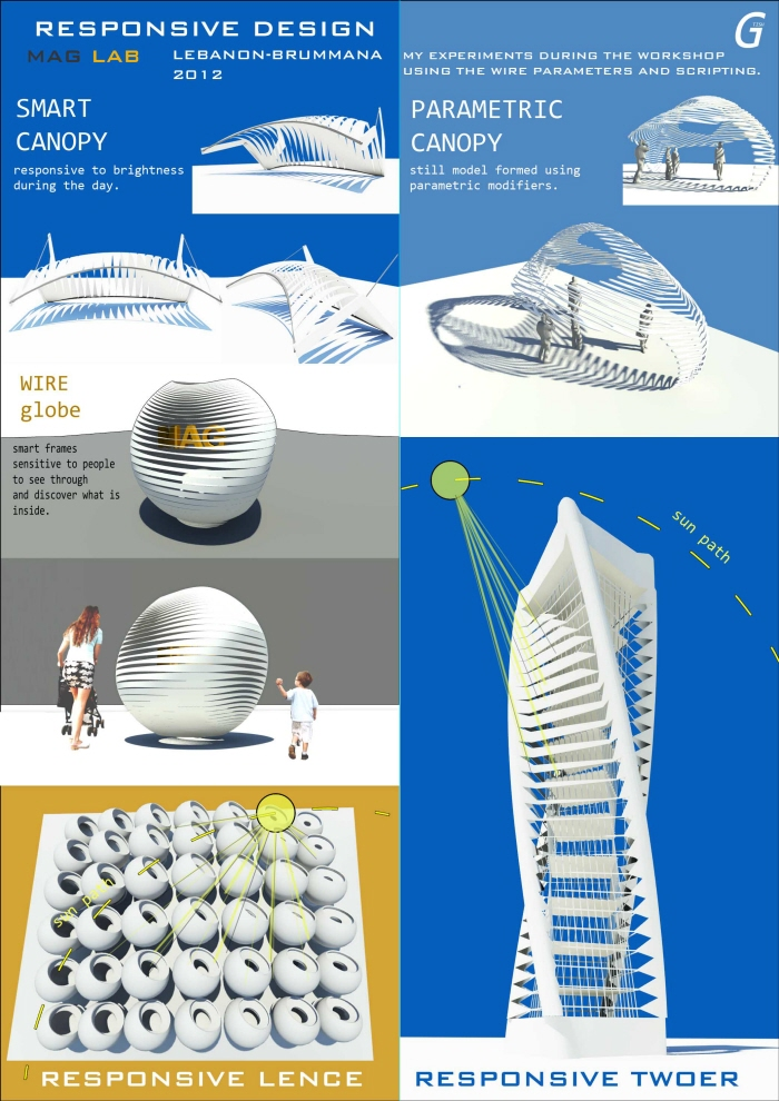 responsve design wire globe parametric canopy lence tower