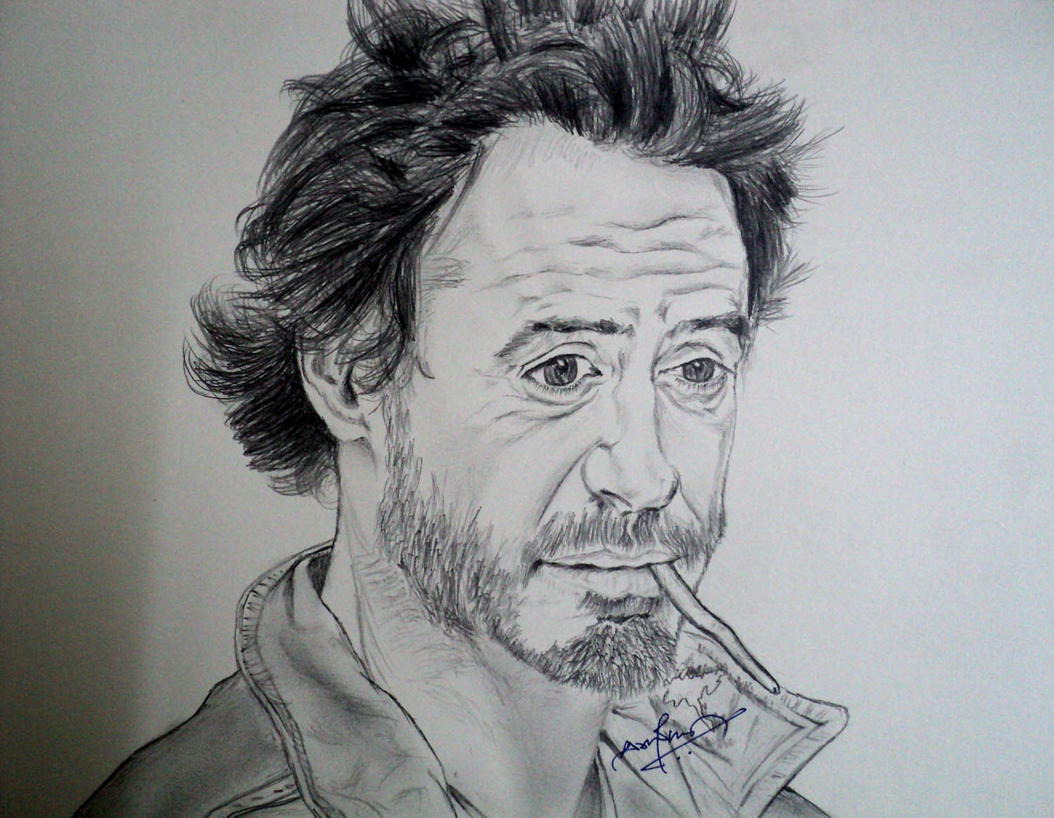 robert downey jr pencil drawing sketch