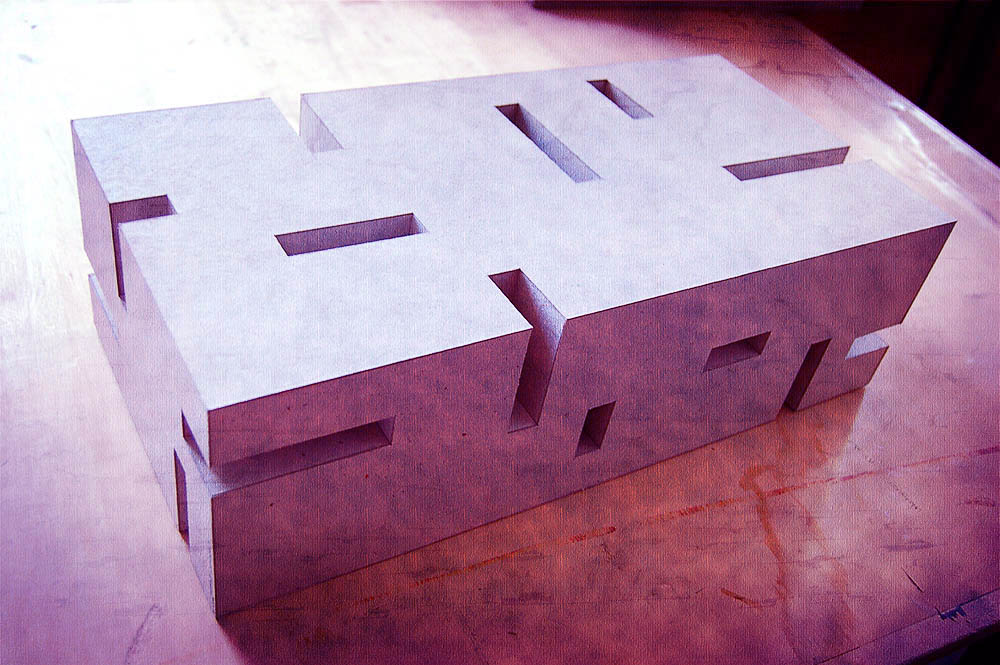Cutted Parallelepiped, Architecture model