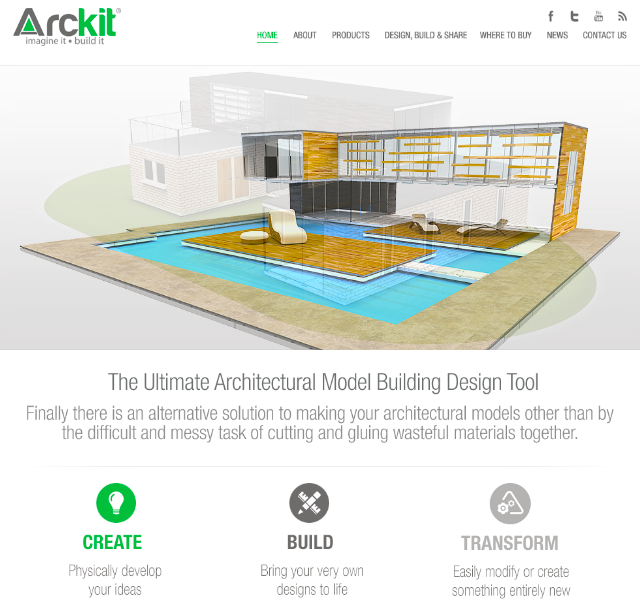 Architecture Design Kit arckit, the ultimate architectural model building design tool