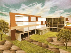 Hostel Project, Exterior Render
