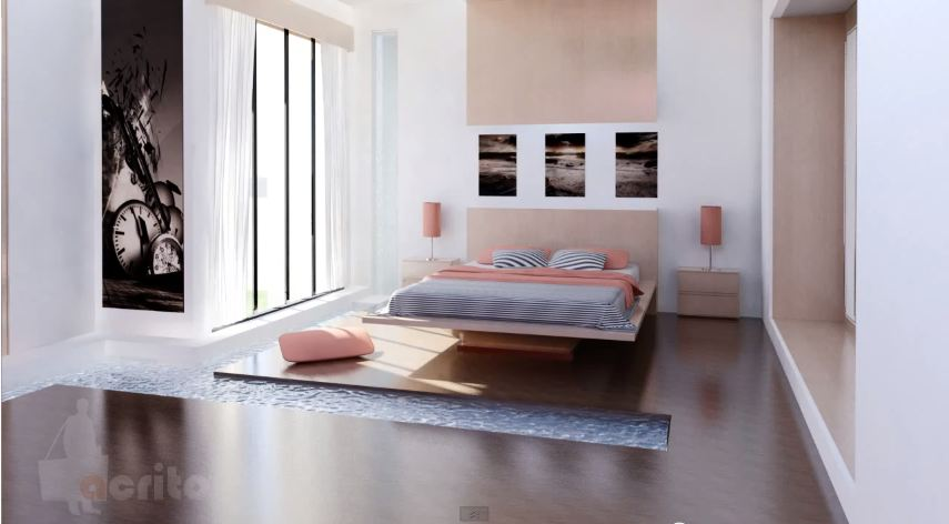 bedroom 3ds max 1