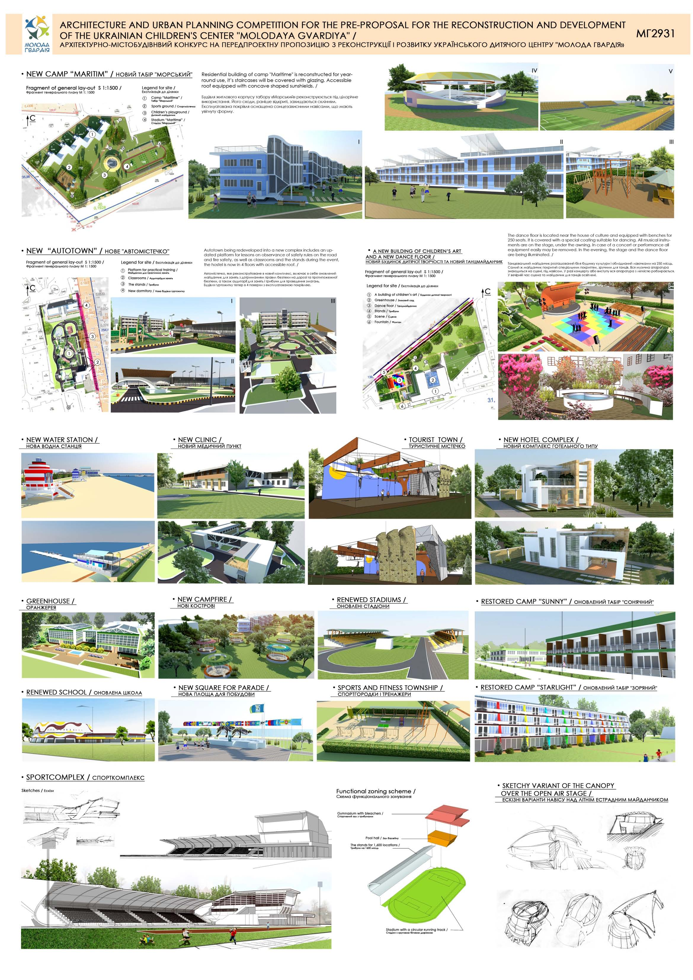 Pre-proposal for Reconstruction and Development of the Ukrainian Children's Center Molodaya Gvardiya