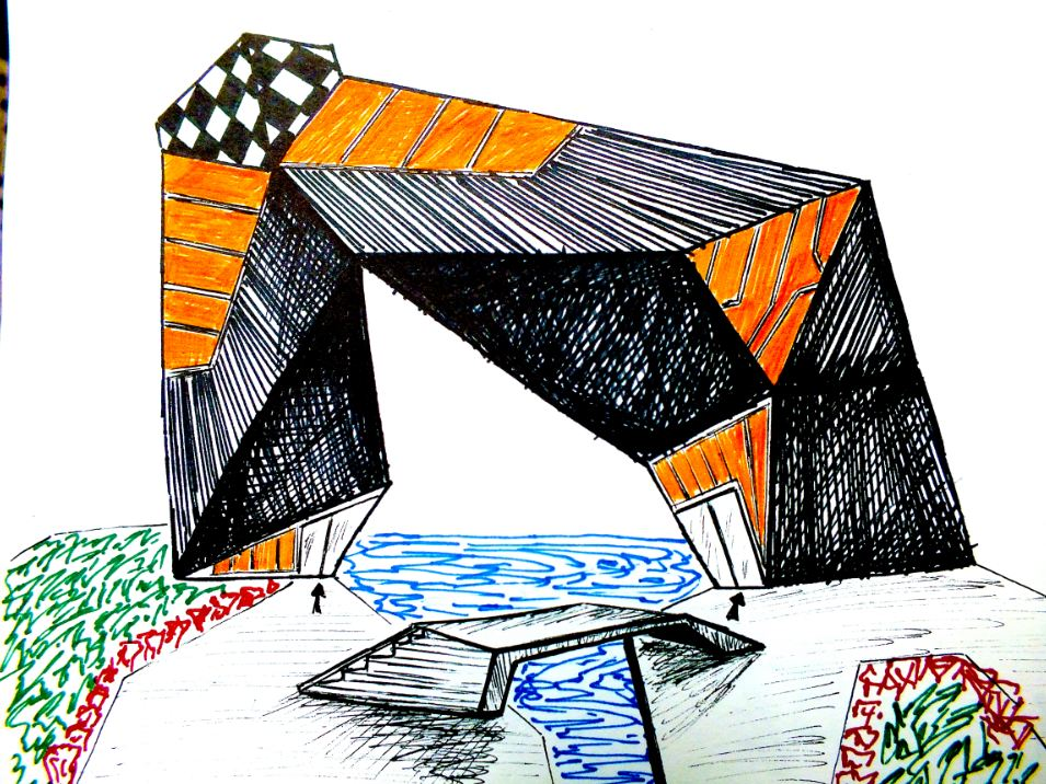 Sketches, Cultural Center concept design