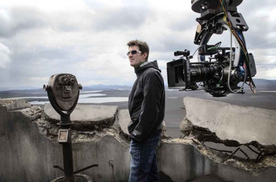 Joseph Kosinski architect on the set of Oblivion movie