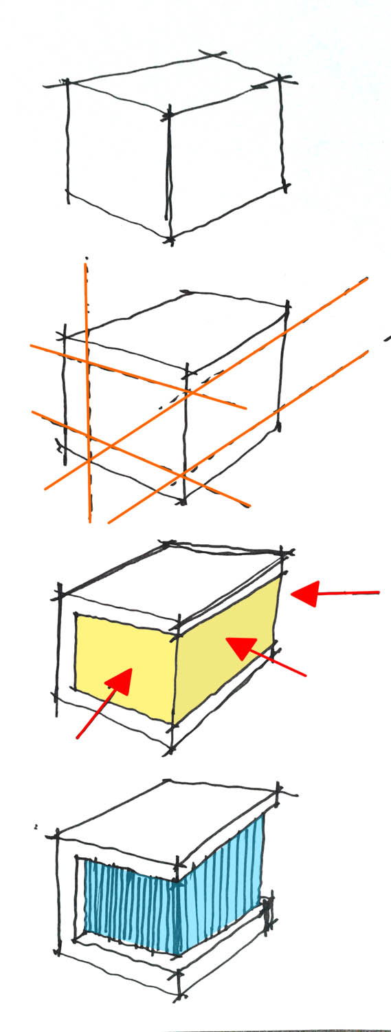 Cube House, Architectural Diagram