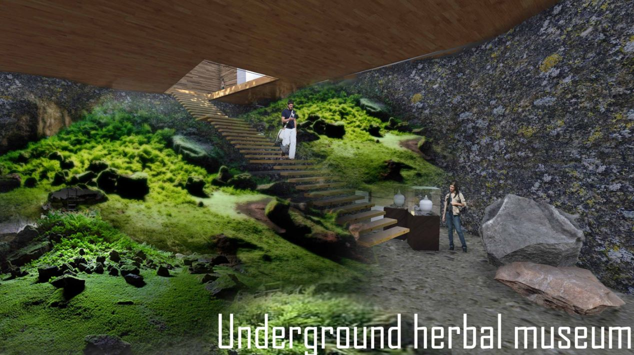 Architecture graduation project Herbal Healing Center concept design