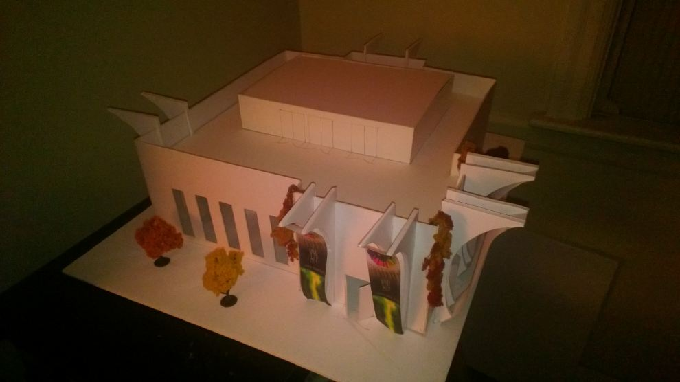 Art Gallery project architectural model (1)
