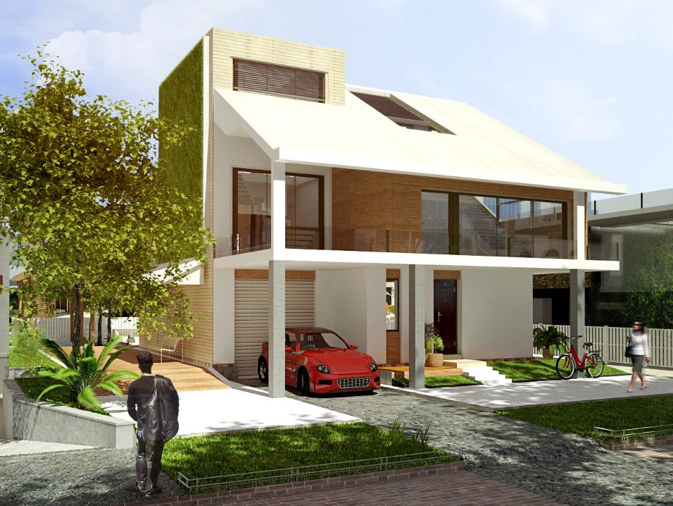 F house simple modern house architecture concept design for Simple modern house ideas