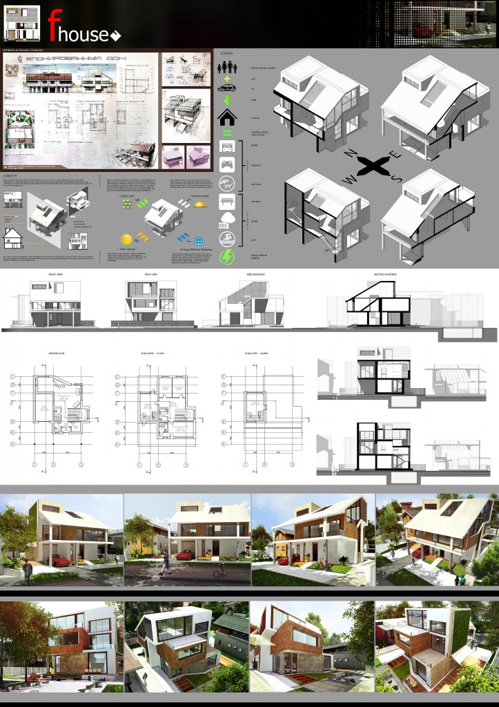 F-house simple modern house architecture concept design