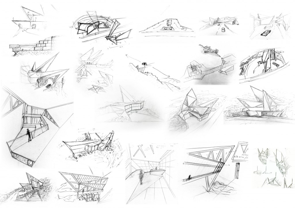 Fire Station And Visitors Site Concept Sketches Arch Student Com