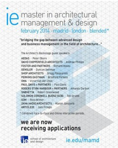 IE Master in Architectural Design – Apply Now!