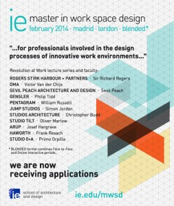 IE Master in Work Space Design – Apply Now!