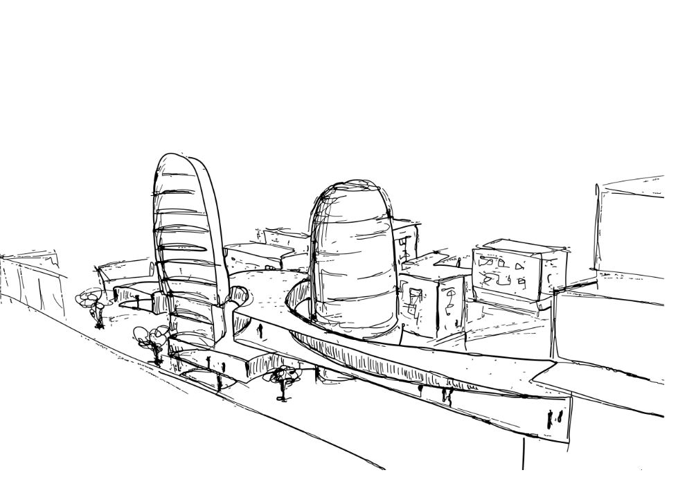 Upper LIfe city urban concept architecture