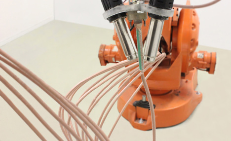 Material 3D Printer,  draw freeform shapes in the air extending from any surface
