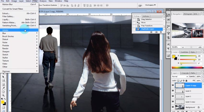 Adding people via Photoshop  Photoshop Architectural Tutorials