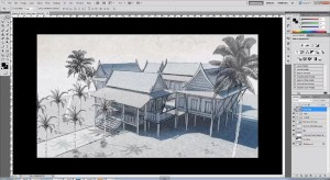 Making Sketchup Digital Drawing Sketch Style | Sketchup Architectural Tutorials