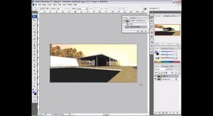 How to render a Sketchup model in Photoshop | Photoshop Architectural Tutorials