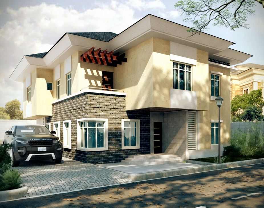 sketch VILLA DUPLEX residential house project concept design