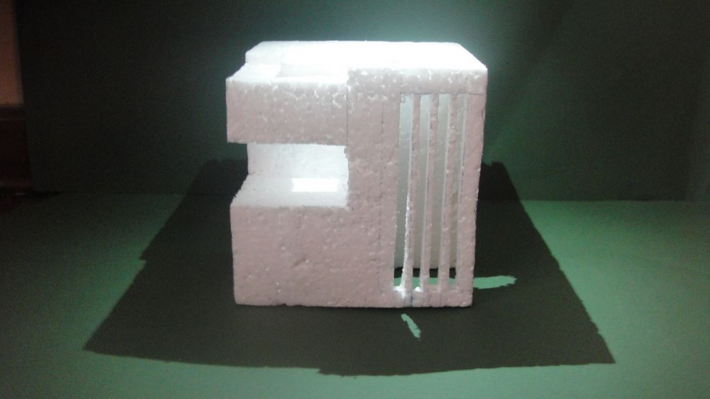 Architecture model made from expanded polystyrene