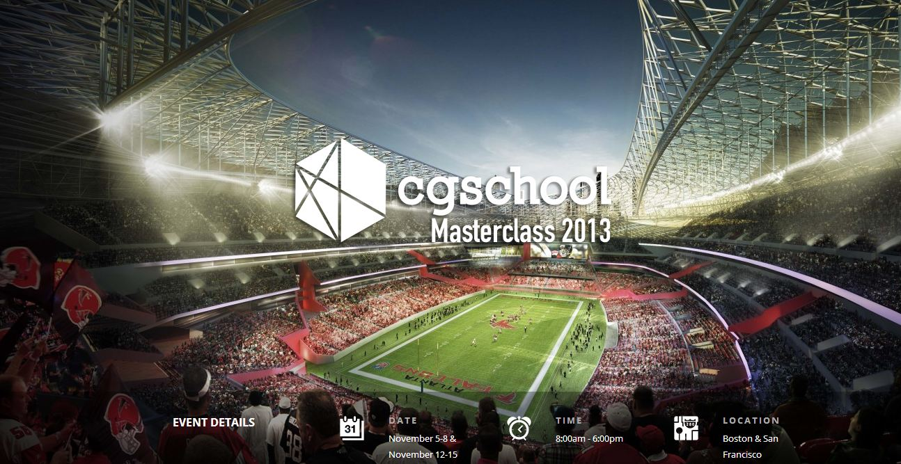 CGschool Architectural Visualization Masterclass (Boston & San Francisco)  Professional Visualization Training