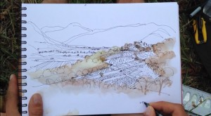 Drawing Landscape Architecture – Pen and Watercolor II | Architecture Drawing Tutorials