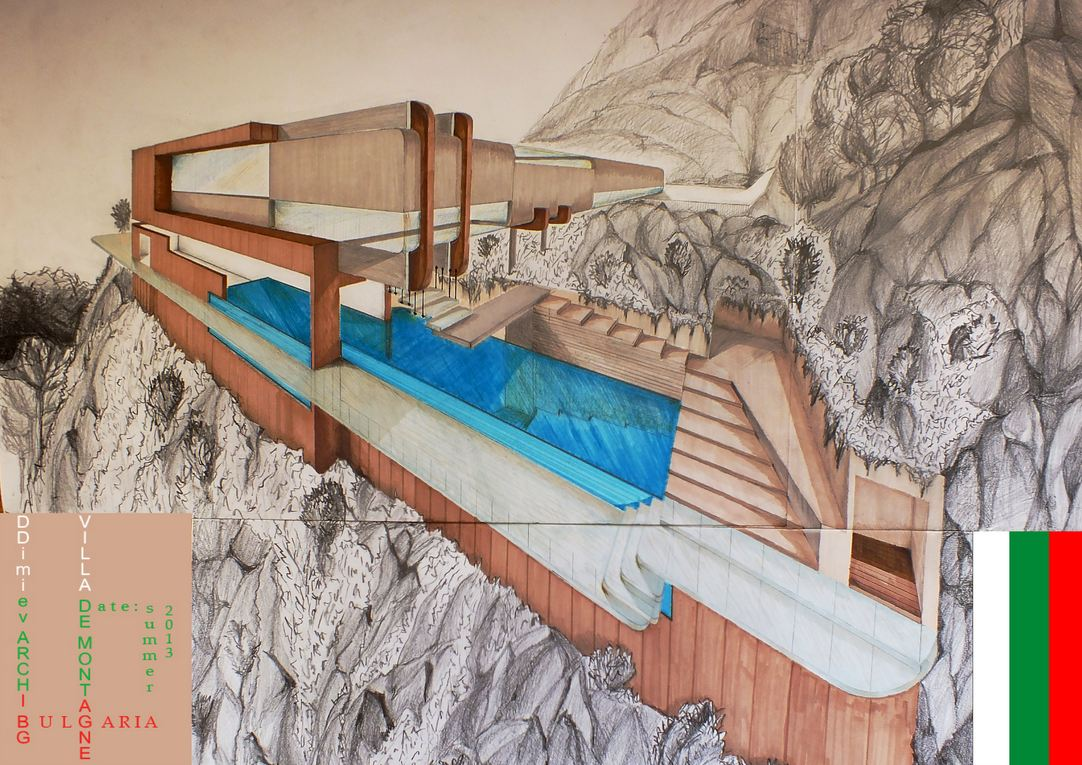 Mountain Residence Architectural Drawing