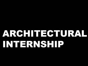 Architectural Student Intern- Harvard GSD