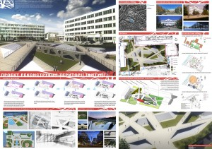 Student park of IFNTUoOG landscaping concept, Ivano-Frankivsk