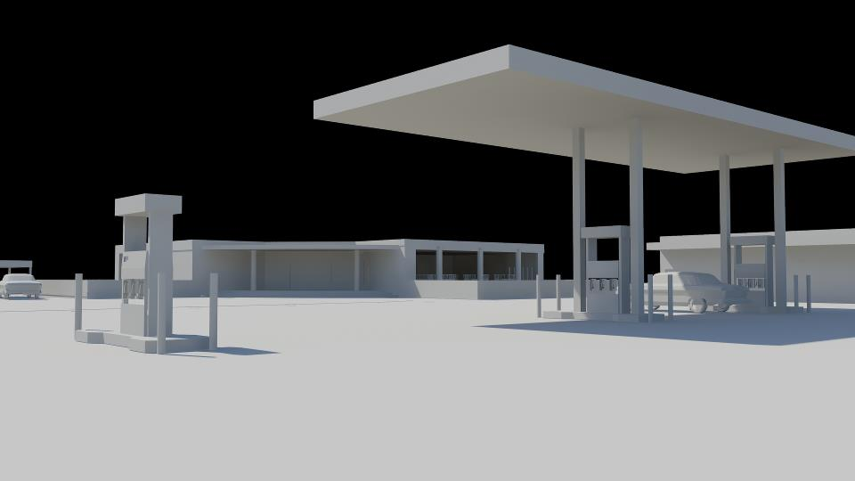 Restaurant and filling station architecture project (2)
