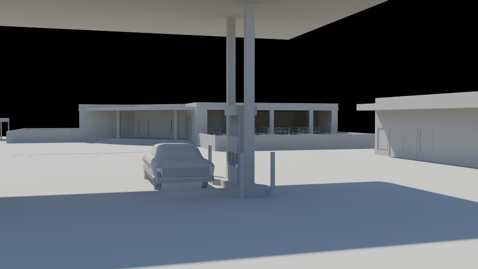 Restaurant and filling station architecture project (4)