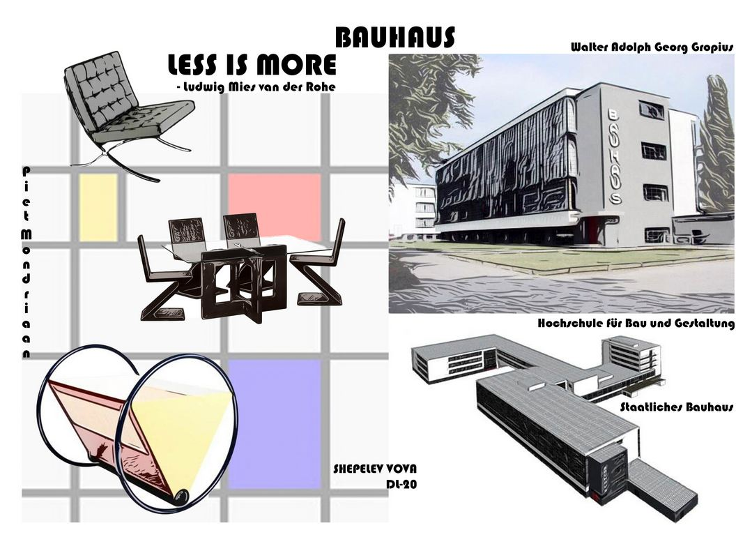 BAUHAUS Less is more Graphic Design