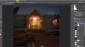 Architectural night Perspectives – Photoshop Visualization Tutorial
