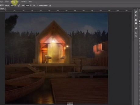 Architectural night Perspectives - Photoshop Visualization Tutorial